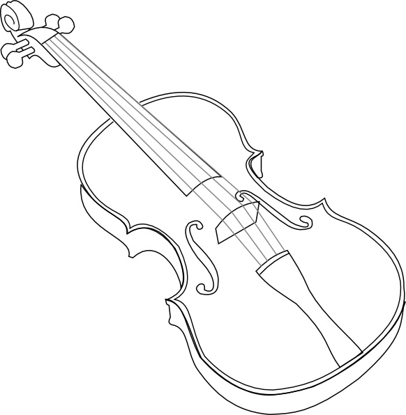 Violin clip art Free vector in Open office drawing svg.