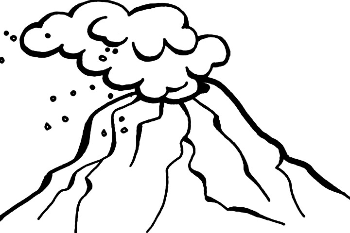 Volcano clipart black and white 3 » Clipart Station.