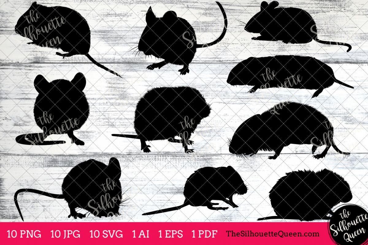 Vole Silhouette Clipart Clip Art (AI, EPS, SVGs, JPGs, PNGs, PDF) , Vole  Clip Art Clipart Vectors.