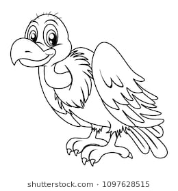 Vulture clipart black and white » Clipart Station.
