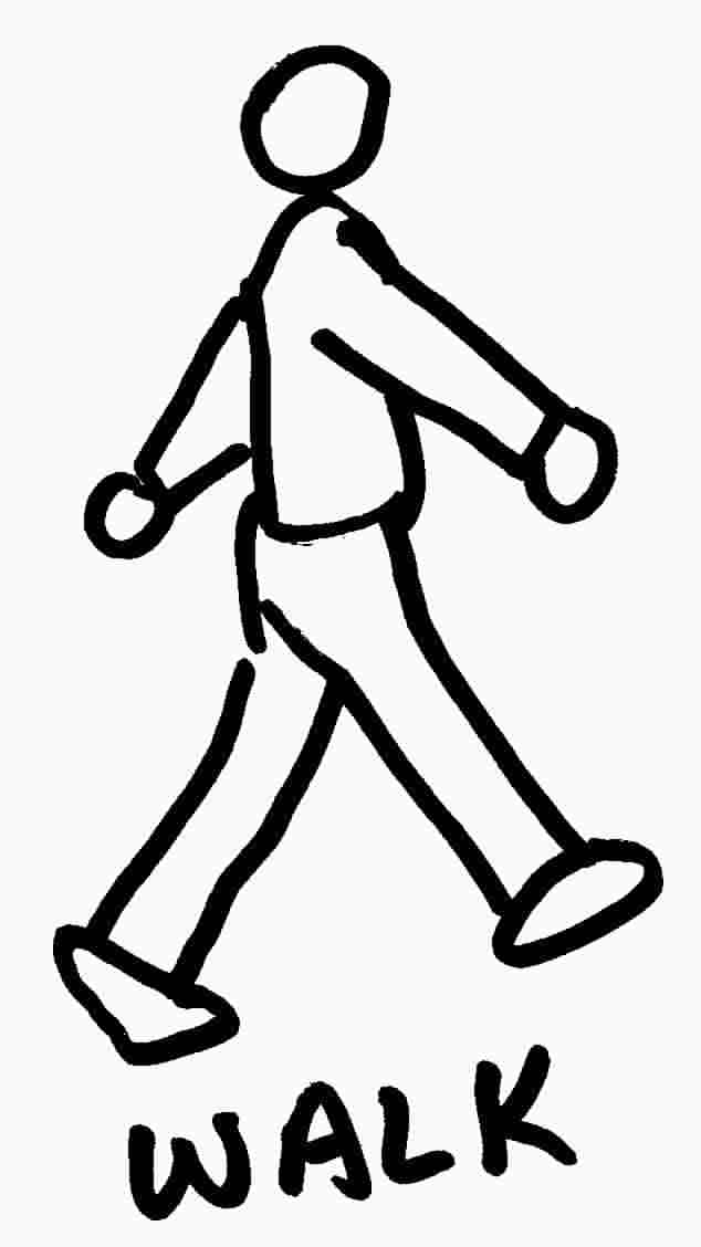 Clipart walking black and white, Clipart walking black and.