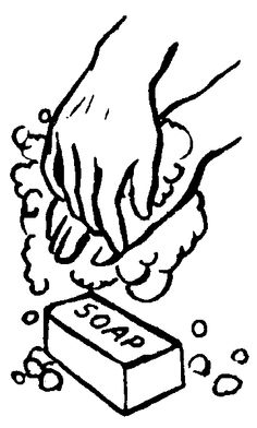 Wash hands clip art black and white.