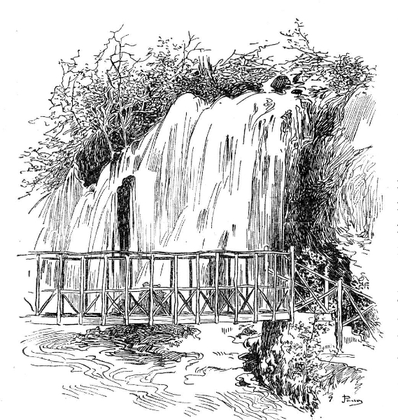 Waterfall Black And White Clipart.