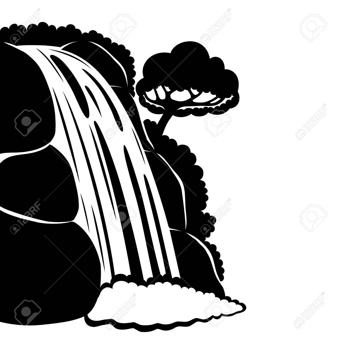 590 Waterfall free clipart.