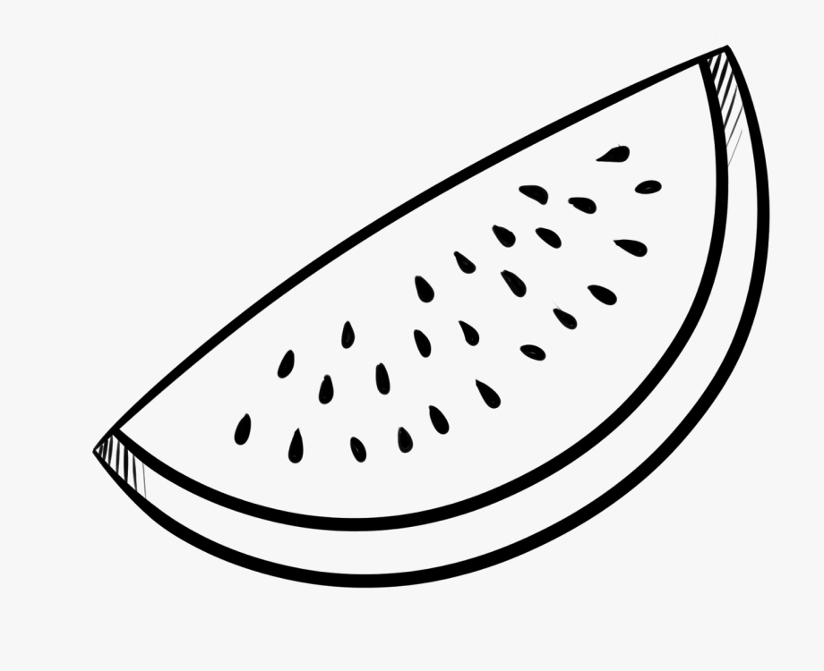 Fruits Black And White Clipart Watermelon.