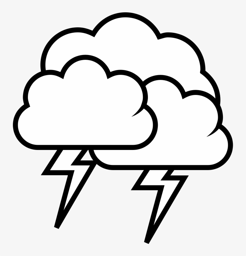 thunder clouds clipart #9