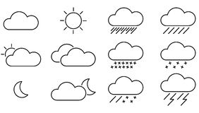 Weather clip art black and white.