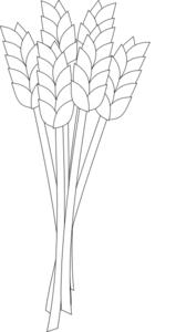 Wheat Black And White Clip Art at Clker.com.