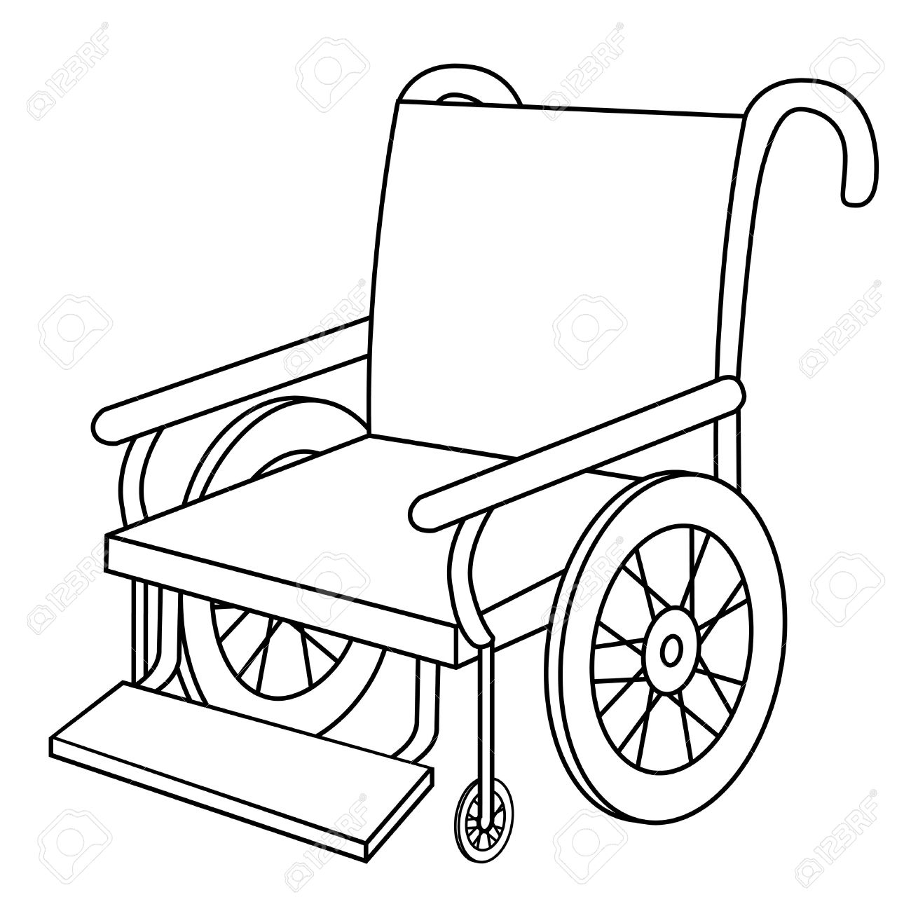 Wheelchair Clipart Black And White.