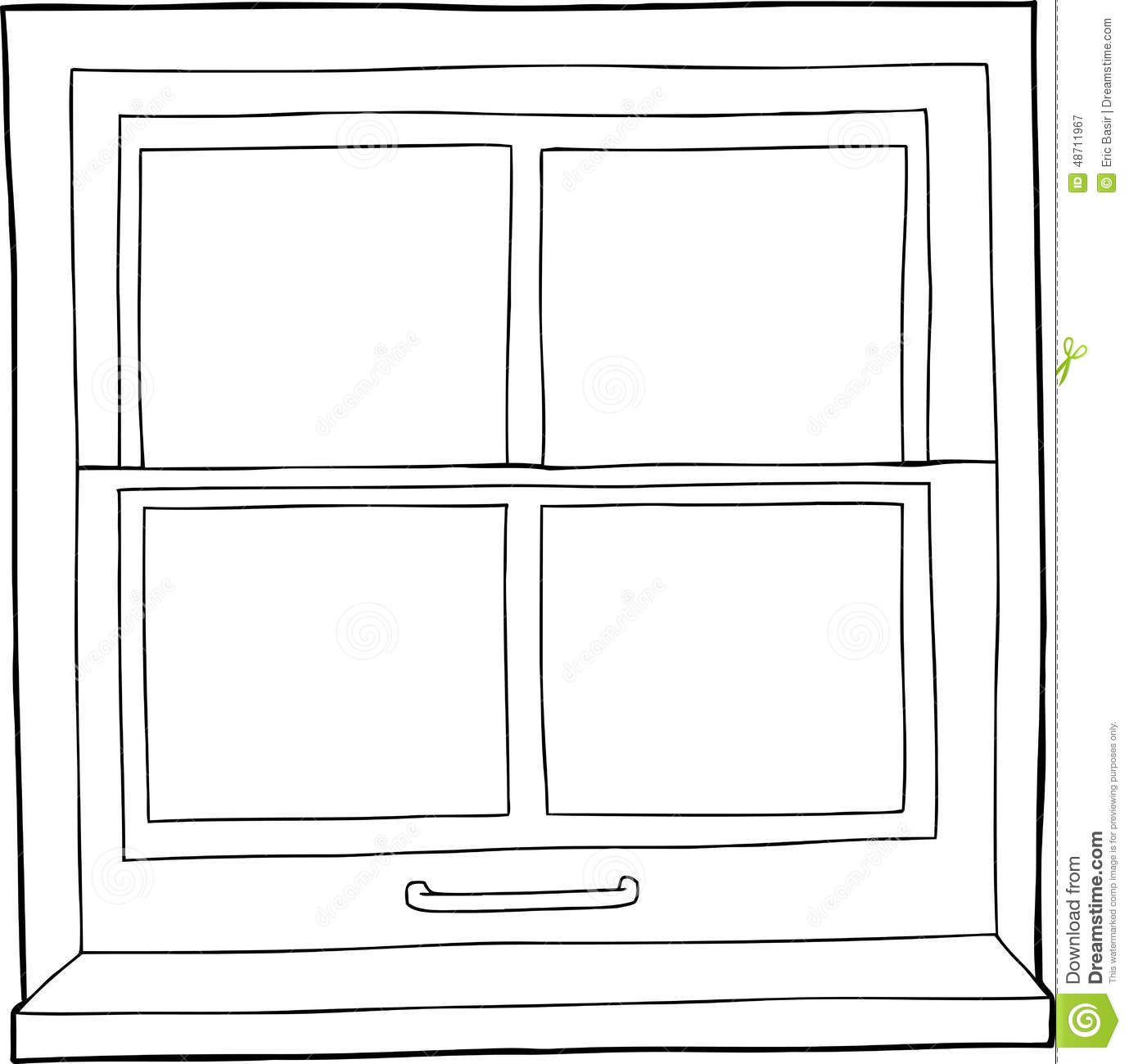 Clipart black and white window 4 » Clipart Station.