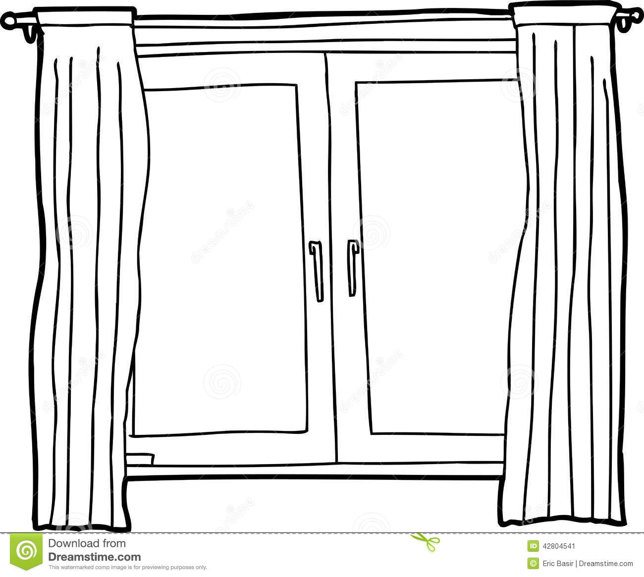 Clipart Black And White Window.