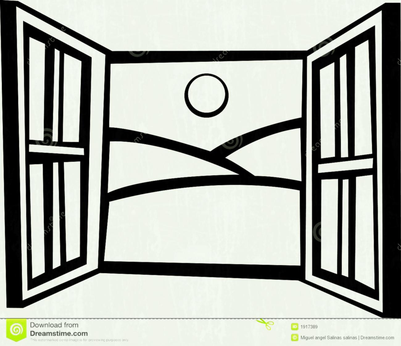 Window black and white clipart 5 » Clipart Station.