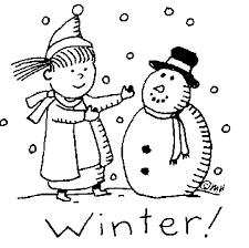 Winter Season Winter Clipart Black And White.