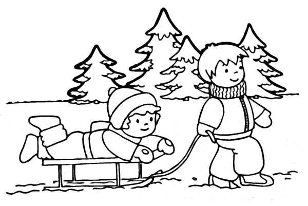 Winter Clip Art Black And White California Ev.