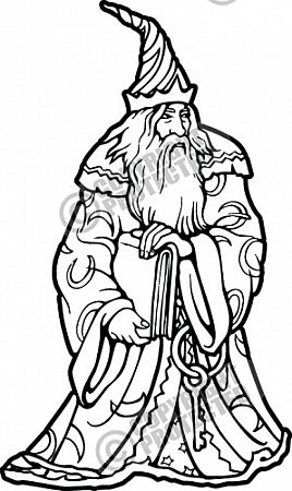Wizard Vector Clipart Illustration Download.
