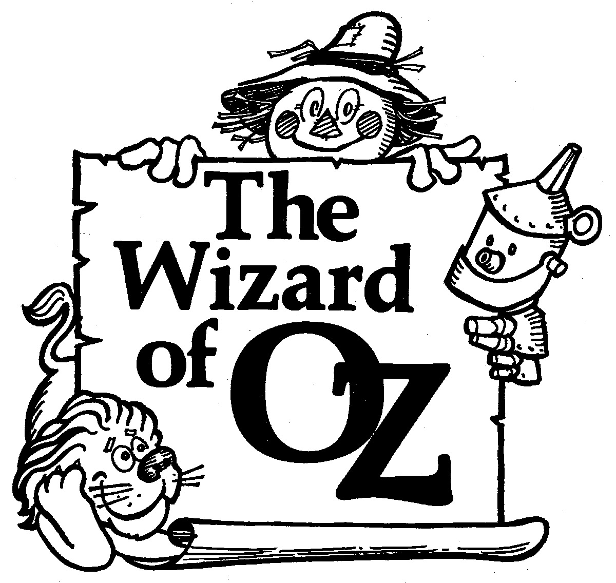 Wizard Of Oz Clipart Black And White.