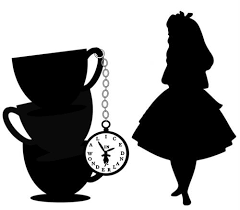 Image result for alice in wonderland clipart black and white.
