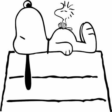 snoopy and woodstock images black and white.