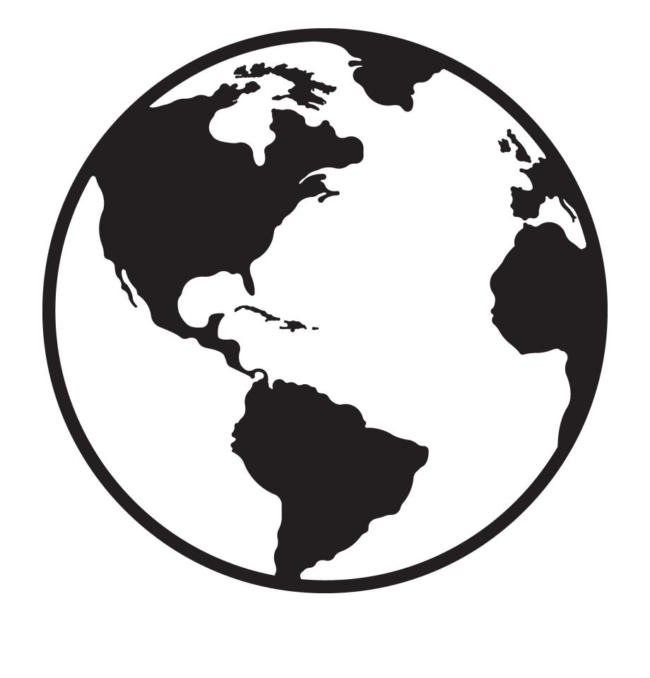 Globe Clipart Black And White Best Globe Black And.