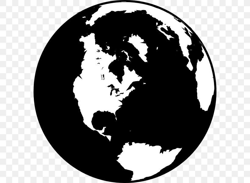 Globe Black And White World Clip Art, PNG, 600x600px, Globe.