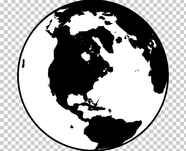 Globe Black And White World PNG, Clipart, Black, Black And.