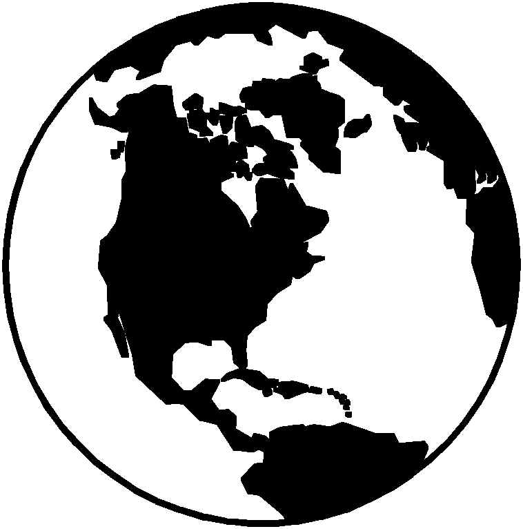 World black and white world clipart black and white.