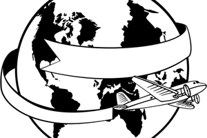 World black and white clipart 3 » Clipart Station.