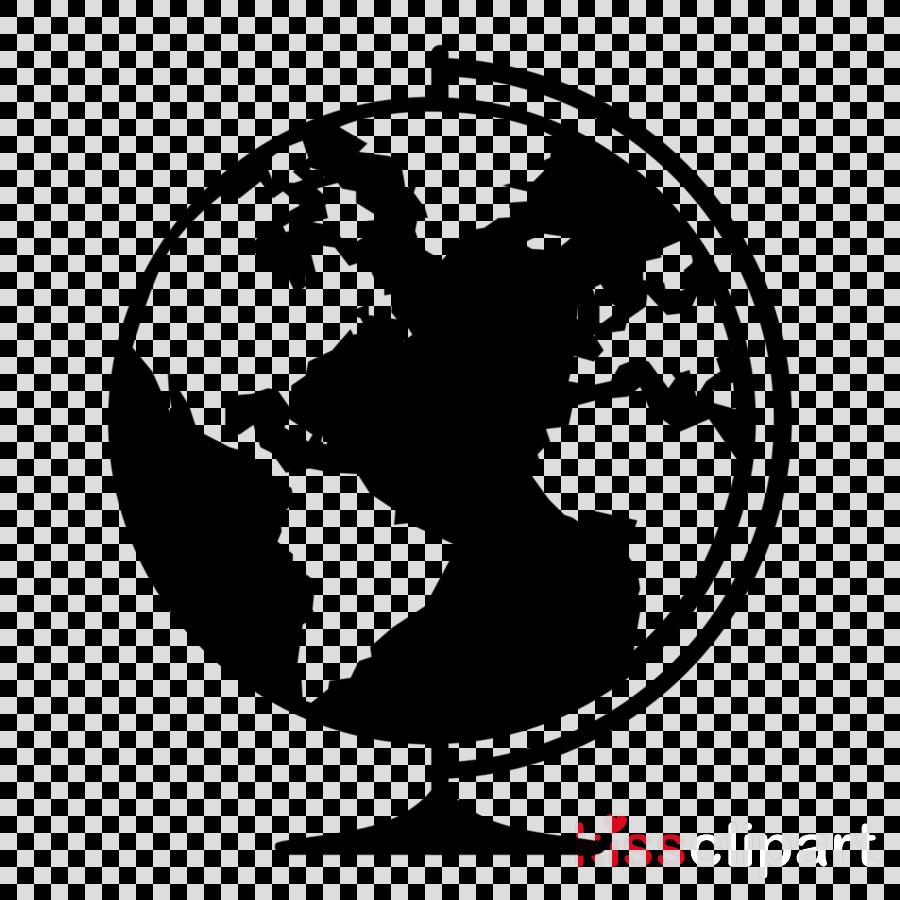 silhouette globe world black.