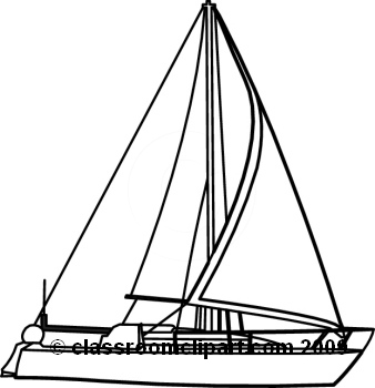 Free Sailboat Clipart Black And White, Download Free Clip.