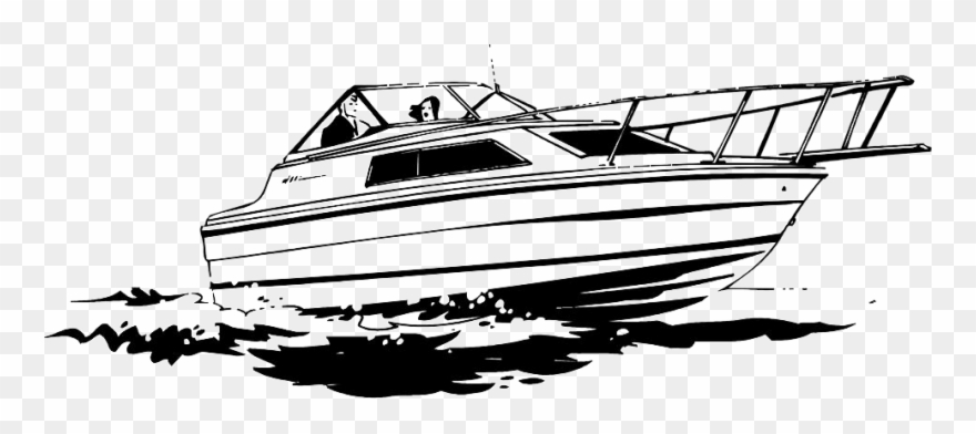 Yacht Black And White Clipart (#1246558).