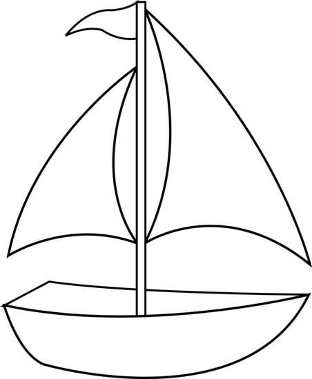 Yacht Black And White Clipart.