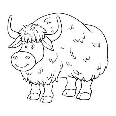 Yak Clipart Black And White.