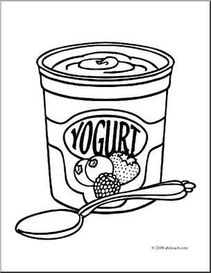 Yogurt clipart black and white 2 » Clipart Station.