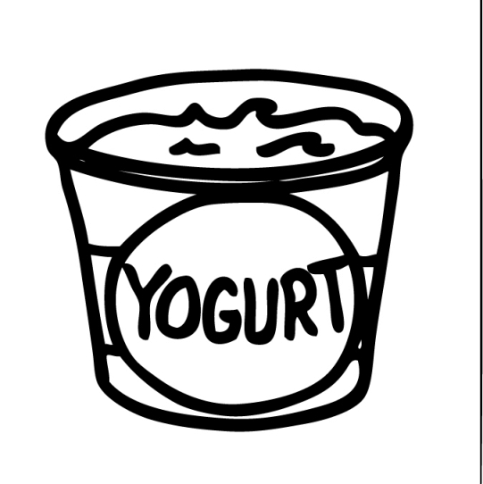 890 Yogurt free clipart.