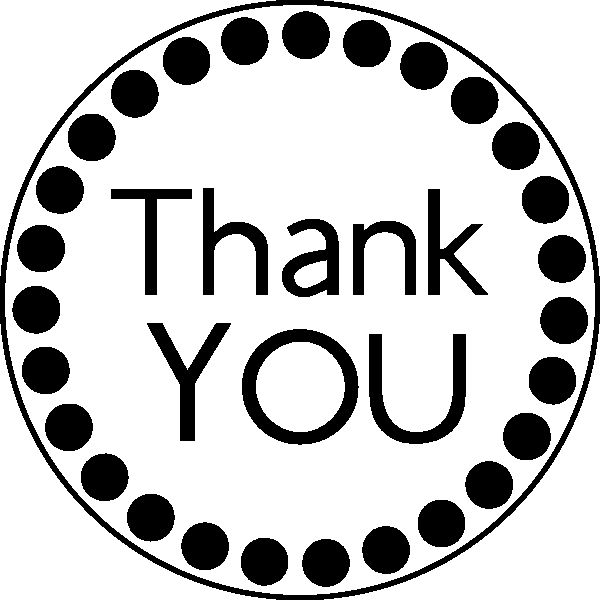 Thank You Clipart Black And White.