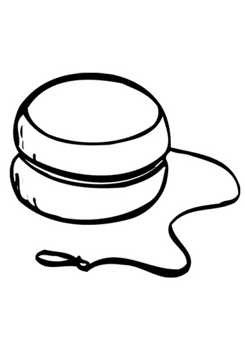 Black And White Clipart Yoyo.
