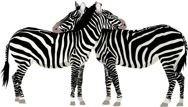 Free Black and White Zebra Clipart.