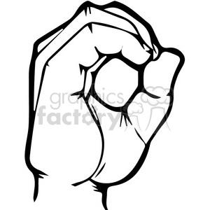 Sign Language 0 Zero clipart. Royalty.