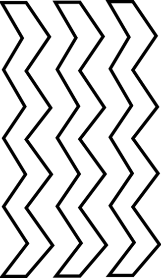 Zig Zag Black And White Clipart.