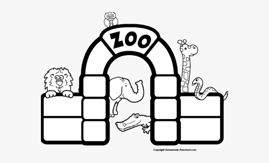 Black And White Zoo, Cliparts & Cartoons.