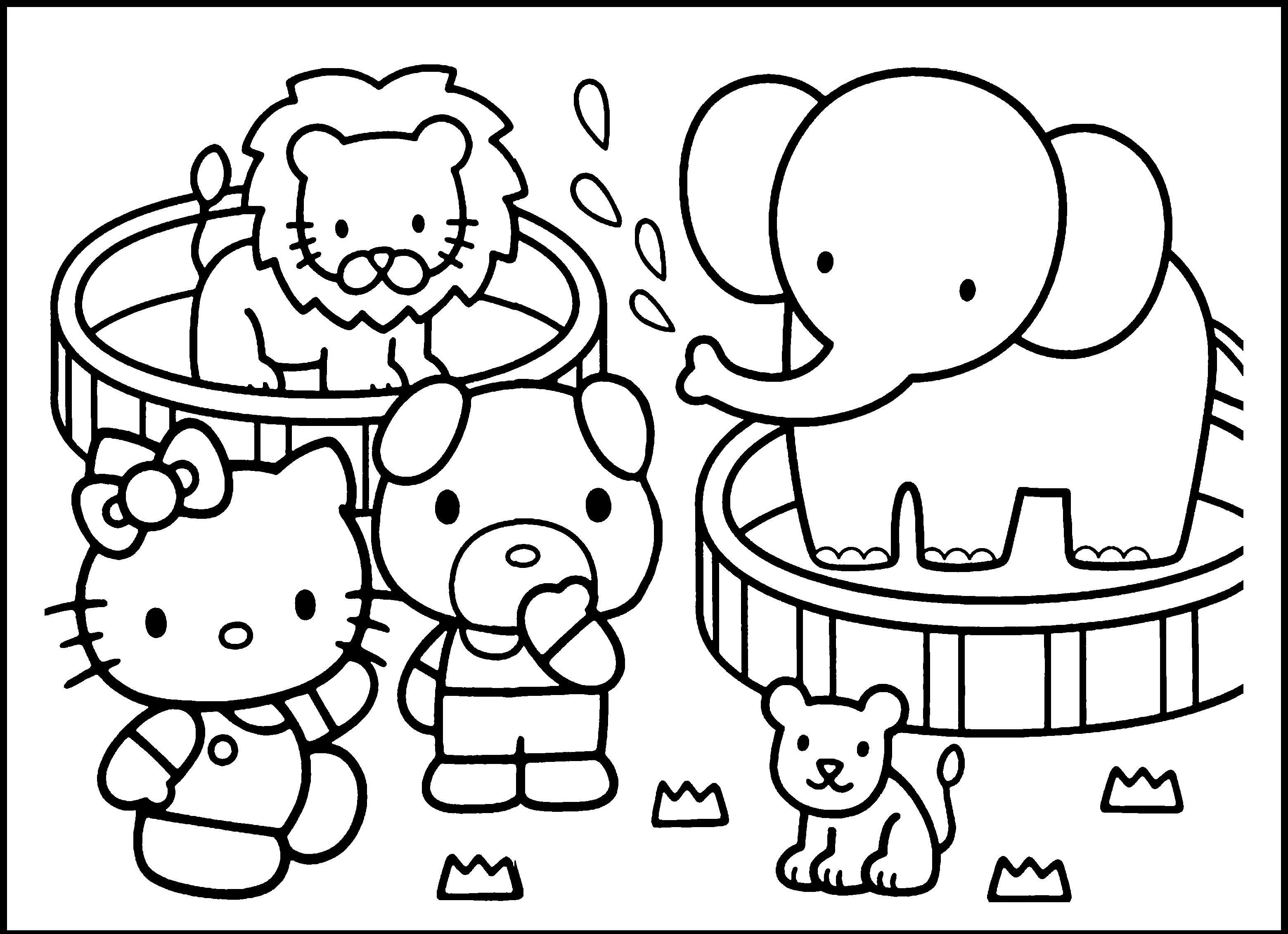 Free Zoo Black And White Clipart, Download Free Clip Art.
