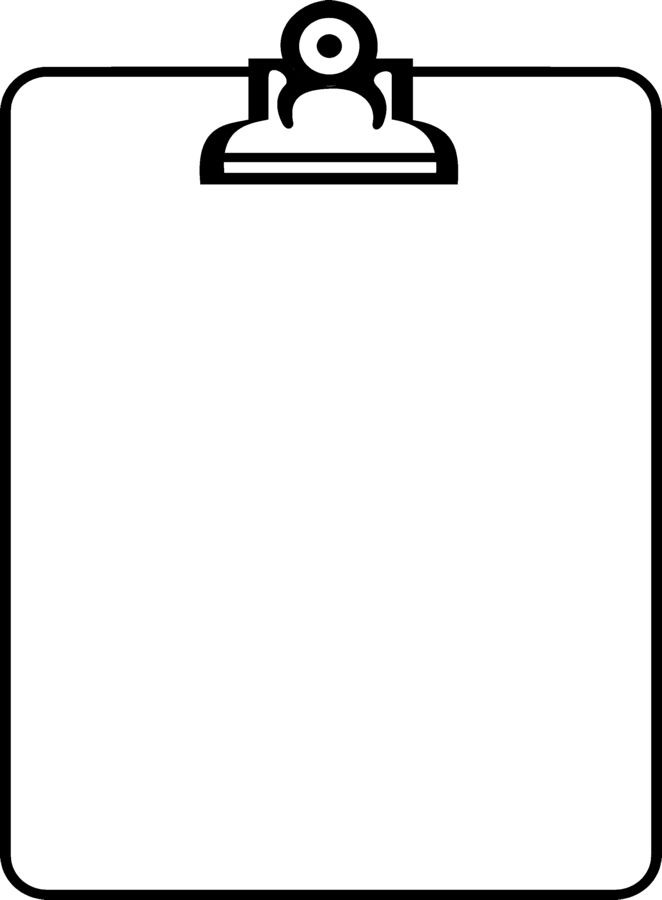 Free Clipboard Clipart Black And White, Download Free Clip.