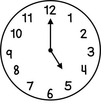 Clocks Clip Art: Hour & Half Hour.