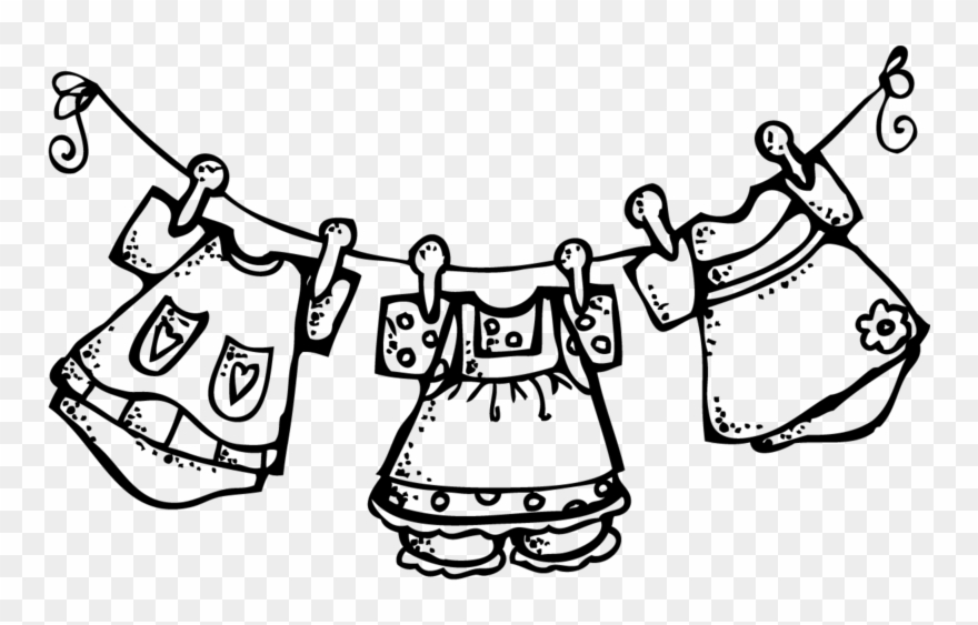 Clipart Clothes On A Clothesline.