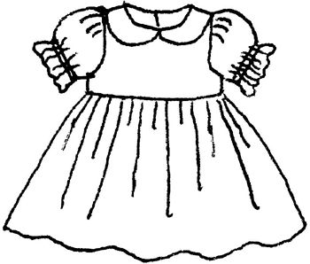 Dress clipart black and white 9 » Clipart Station.