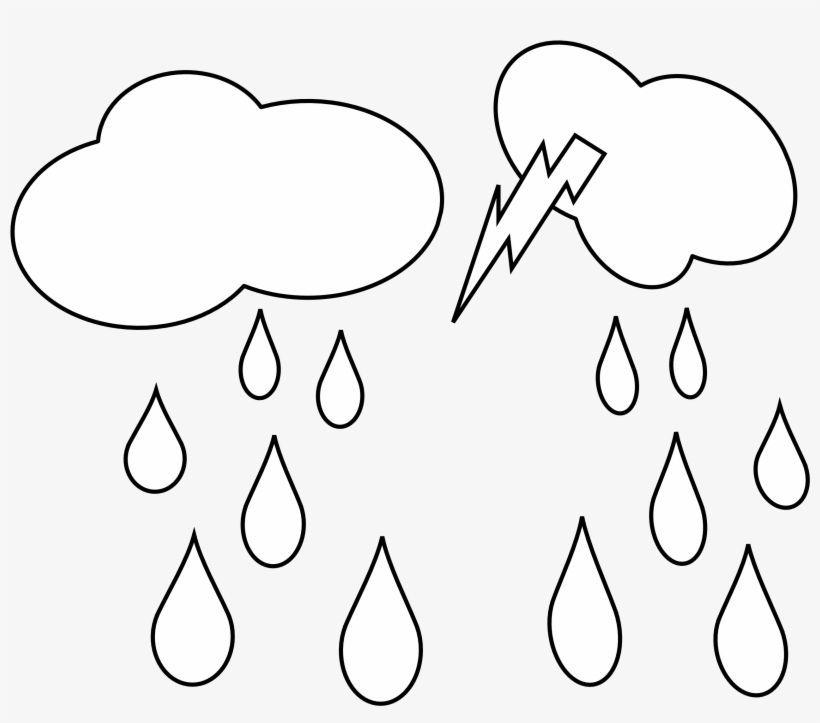 Clip Art Library Black And White Clouds Clipart.