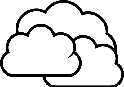 Cloudy Clipart Black And White.