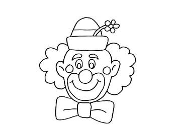 Clown clipart line art, Clown line art Transparent FREE for.