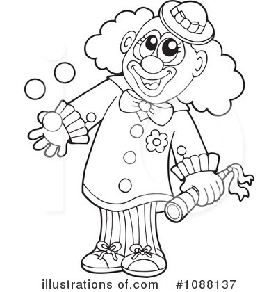 Clown clipart black and white » Clipart Station.
