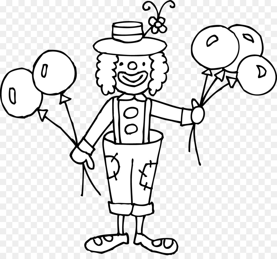 Clown Hat Clipart Black And White.